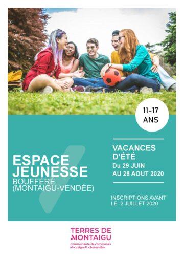 Image : Couverture - Programme de l'été 2020 - Animation Jeunesse Boufféré - Montaigu-Vendée