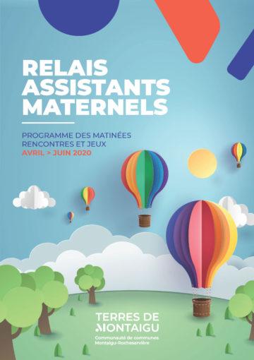 Image : Couverture - Programme d'animations Matinées Rencontres & Jeux - Relais Assistants Maternels - Terres de Montaigu