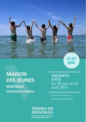 Couverture du programme des vacances d'été 2021 - Montaigu - Montaigu-Vendée