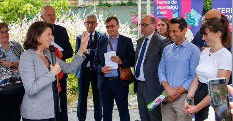 Image : visite de la ministre des Solidarités et de la Santé Agnès Buzyn - Terres de Montaigu