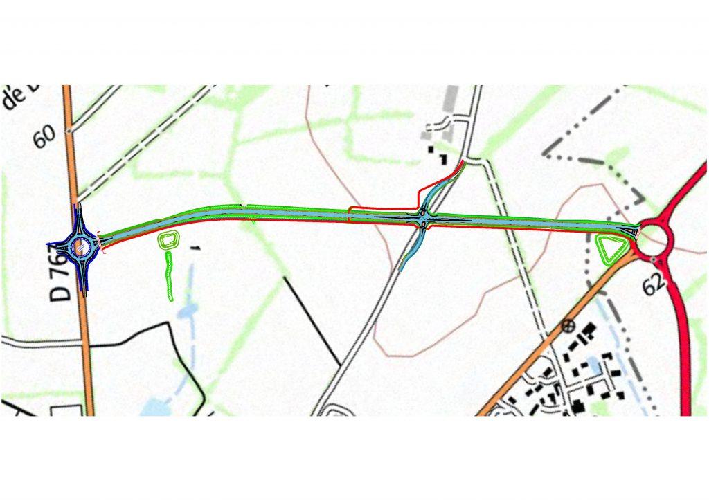 Image : Plan des travaux de liaison RD 753 - RD 763 - Montaigu-Vendée - Terres de Montaigu