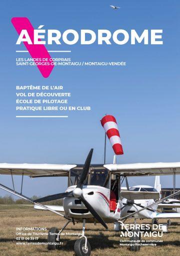 Image : couverture - Dépliant 2019 - Aérodrome - Terres de Montaigu