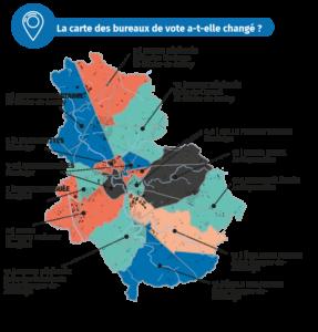 Infographie : Carte des bureaux de vote - Élections municipales - Montaigu-Vendée