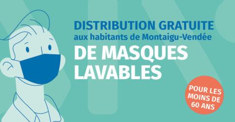 illustration : distribution gratuite de masques aux habitants de Montaigu-Vendée