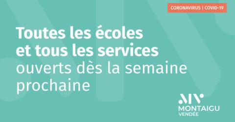 Illustration : réouverture des écoles et services de Montaigu-Vendée au 12 mai