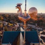 Eglise Saint Jean-Baptiste : le nouveau coq girouette