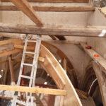Eglise Saint Jean-Baptiste : la démolition des deux voûtes avant reconstruction