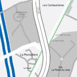 Plan : chemin piétonnier, La Perrochère, Boufféré