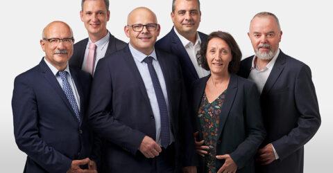 Photo : le maire et les maires délégués de Montaigu-Vendée