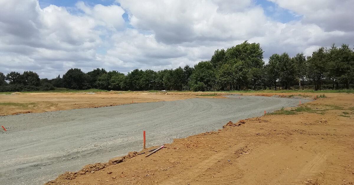 Photo : travaux en cours dans le lotissement des Amphores à Boufféré (Montaigu-Vendée)