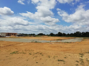 Photo : travaux en cours dans le lotissement des Amphores, Boufféré (Montaigu-Vendée)