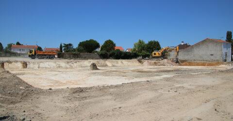 Photo : démarrage des travaux - les jardins du chemin neuf - Saint-Hilaire-de-Loulay - Montaigu-Vendée