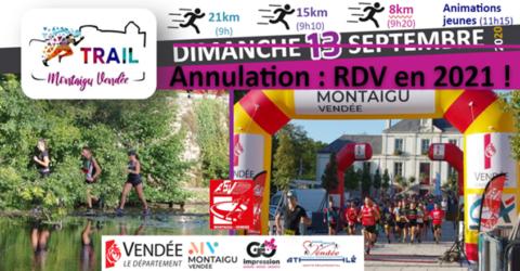 Image : Annulation du trail de Montaigu-Vendée - Montaigu-Vendée