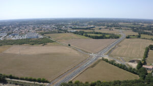 Vue aérienne - Rocade de Montaigu-Vendée
