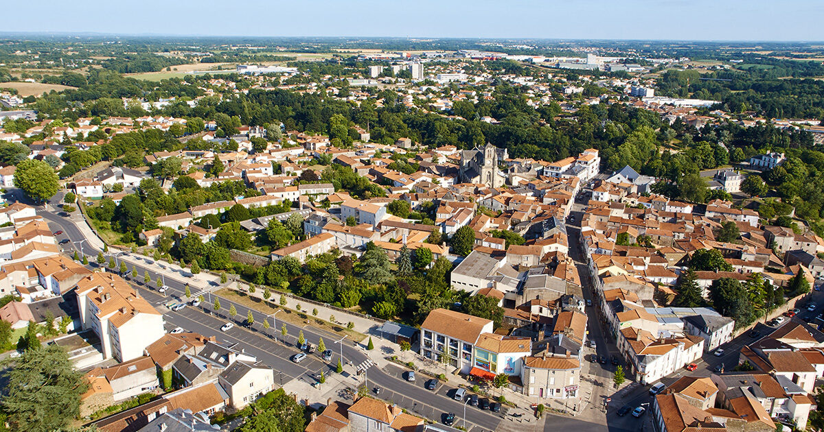 Vue aérienne : Montaigu, Montaigu-Vendée