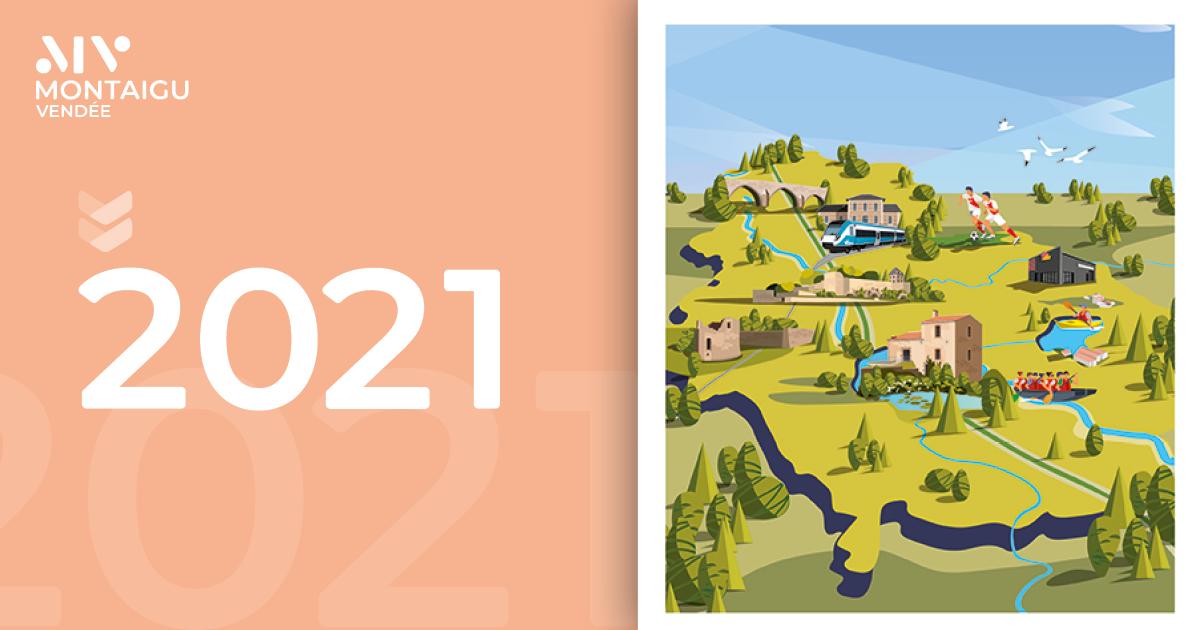 Illustration 2020 vœux Montaigu-Vendée