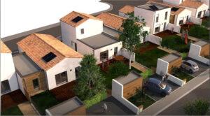 Vue architecte : maisons C3P- Tiersen Architectures