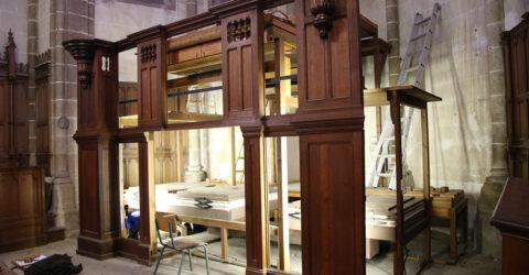 Photo : démontage de l'orgue de l'église Saint Jean-Baptiste, Montaigu-Vendée