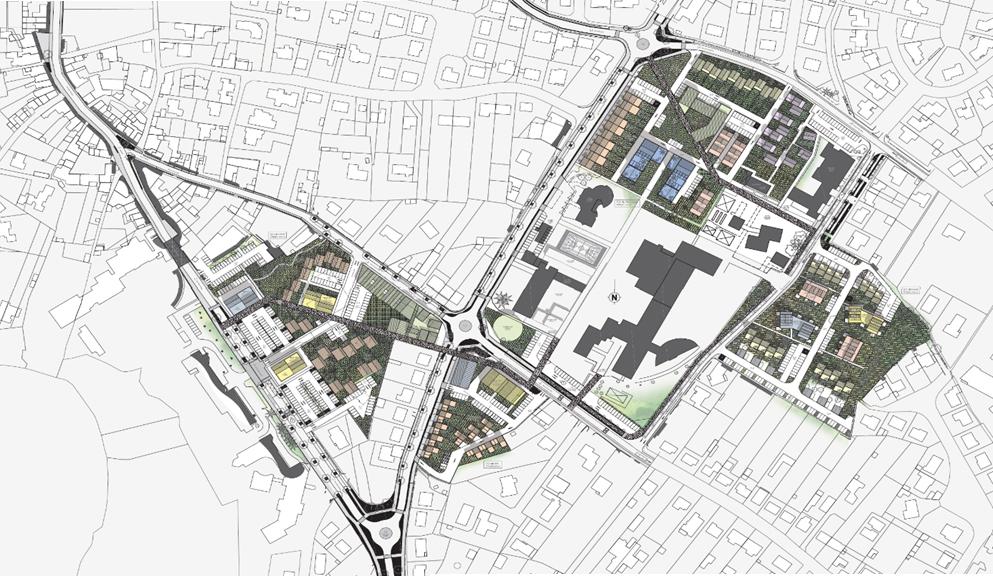 Plan : aménagement des Hauts de Montaigu - Juillet 2017