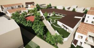 Vue architecte : Ilot C2 - CMP Hôpital de jour pour enfants - Ouest Architecture Urbanisme