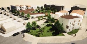 Vue d'ensemble du projet de Vendée Habitat - Ouest Architecture Urbanisme