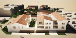Vue architecte : ilot C1 - Ouest Architecture Urbanisme