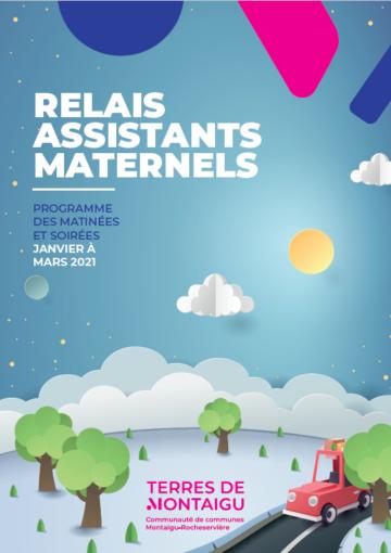Couverture du programme des matinées et soirées du RAM - Janvier à mars 2021