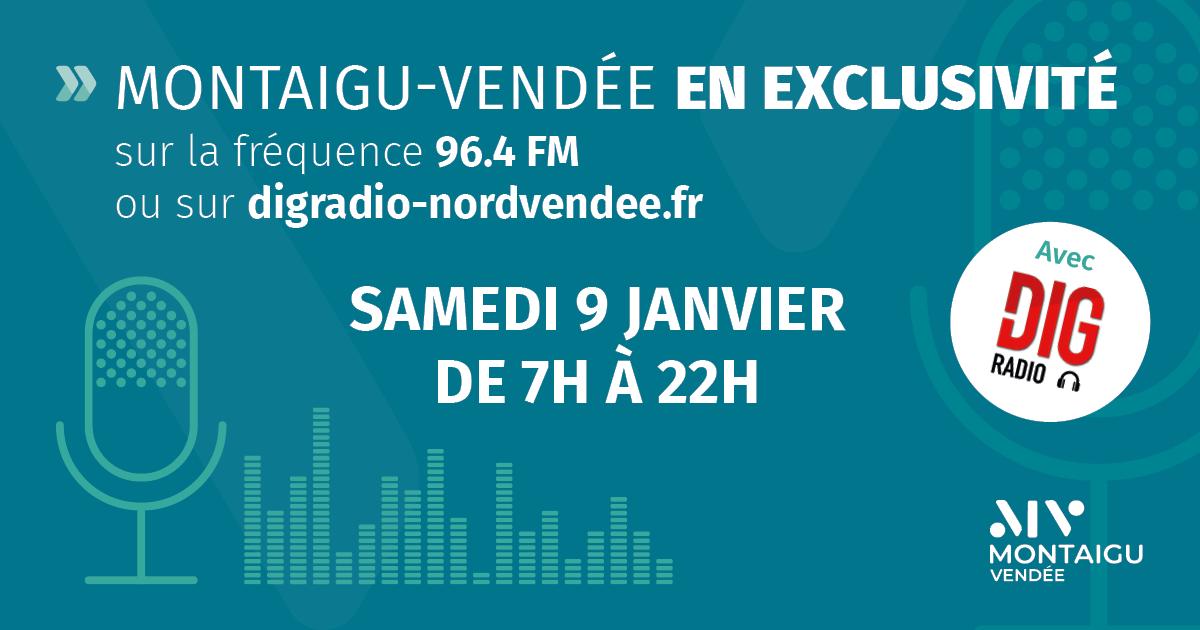 Image : Montaigu-Vendée en continu à la radio le samedi 9 janvier 2021