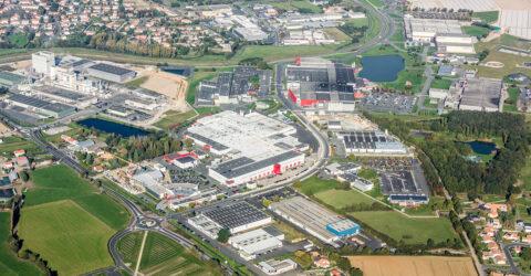 Vue aérienne de la Zone du Chassereau, Saint-Georges-de-Montaigu, Montaigu-Vendée