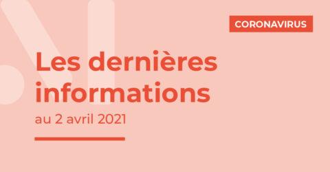 Covid-19 : les dernières informations au 2 avril 2021