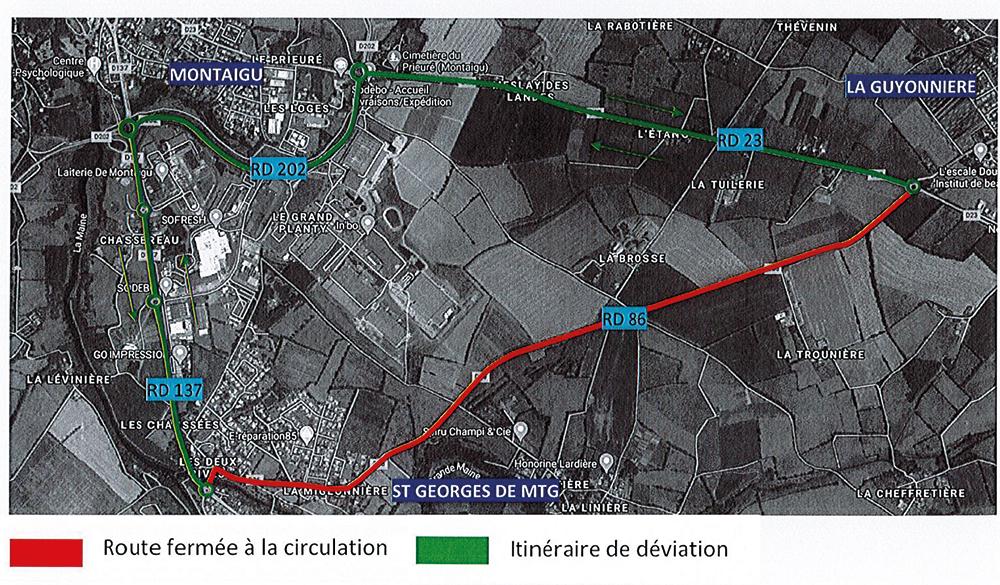 Plan : travaux mai 2021 - RD86