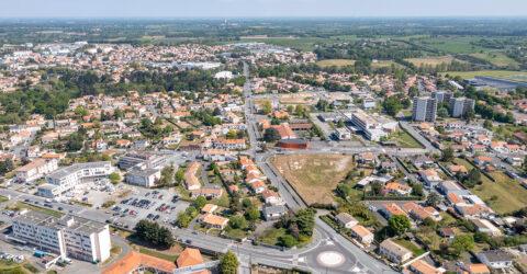 Vue aérienne du futur quartier des Hauts de Montaigu - Montaigu-Vendée