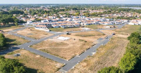 Vue aérienne lotissement Les Amphores - Boufféré