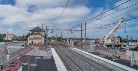 Gare Montaigu-Vendée - suppression de la passerelle aout 2021