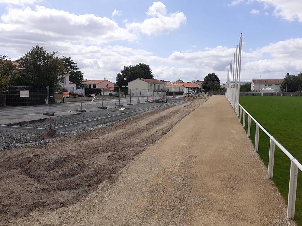 Photo : nouvelles places de stationnement avenue des sports